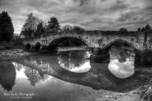 BM001 aylesford bridge mono reflection