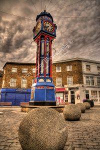 BI002 clock tower in square