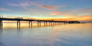 AK022 deal pier panoramic sunrise logo web