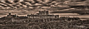 Dover Castle - Panoramic In Sepia