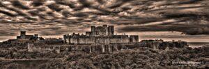 Dover Castle - Panoramic In Sepia