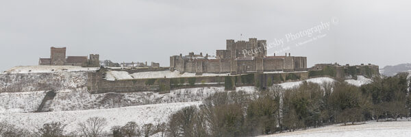 Dover Castle - Panoramic In The Snow