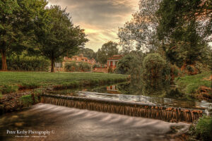 Waterfall At Russell Gardens - Sunset