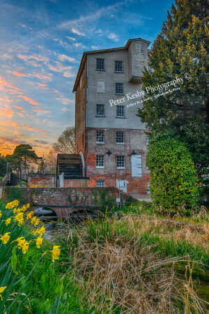 Springtime Sunset At Crabble Corn Mill