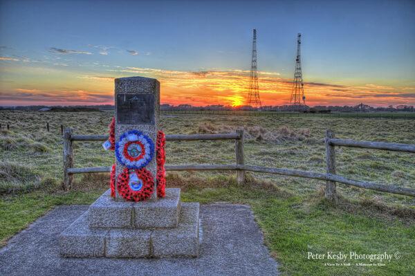 Royal Flying Corps Memorial - RAF Swingate - Sunset
