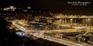 Wellington Dock - Night- Light Trails