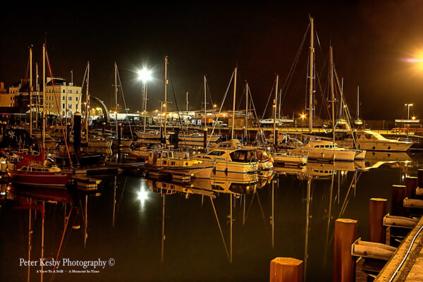 Wellington Dock At Night