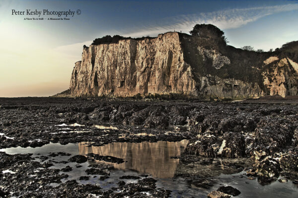 St Margarets Bay - Cliffs - Reflection