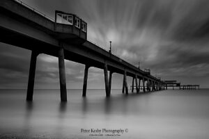 Deal Pier - Long Exposure - Mono