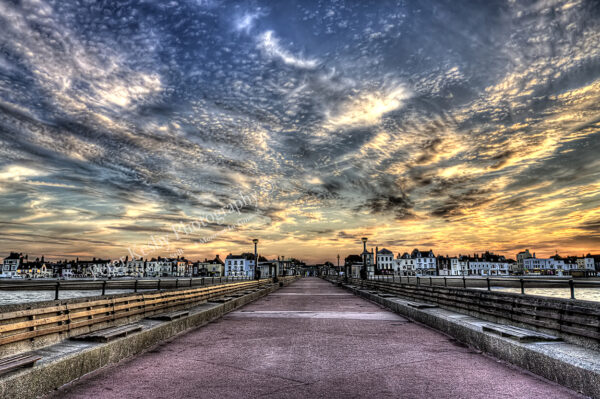 Looking back down Deal Pier - Sunset