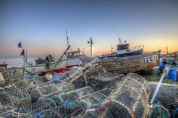 Deal At Dusk - Fishing Scene