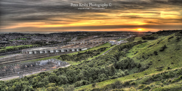Channel Tunnel - Sunset - Panoramic