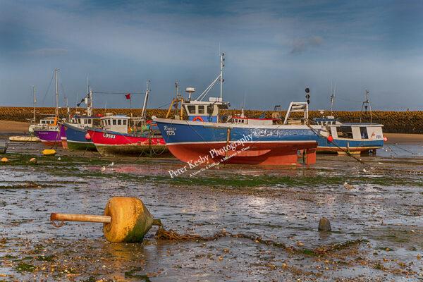 Folkestone Fishing Fleet - Low Tide