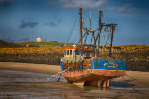 Folkestone Fishing Boat - Awaiting The Next Tide