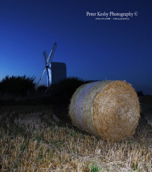 Chillenden Windmill - Night - Hay Bale