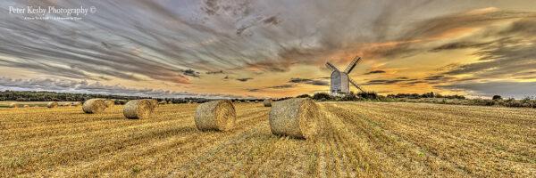 Chillenden Windmill - Sunset - Panoramic