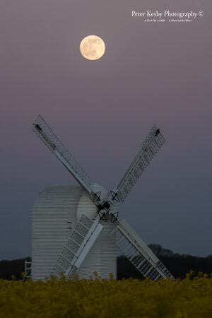 Full Moon Over Chillenden Windmill