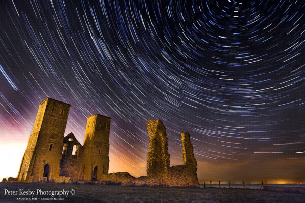 Reculver Towers - Star Trails