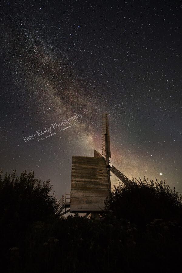Milky Way Over Chillenden Windmill