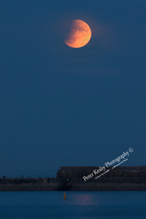 Lunar Eclipse - Dover Breakwater - #1