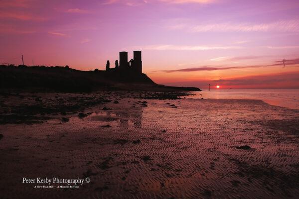 Reculver Towers - Magenta Sunset