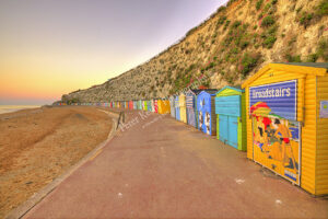 Beach Huts - Stone Bay - Sunset