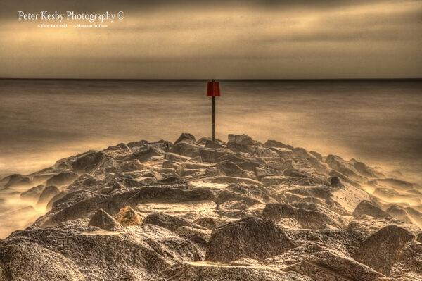 Rocks - Groyne - Hythe - Sepia