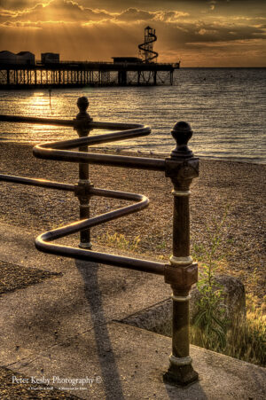 Fence - Herne Bay Pier - Sunset