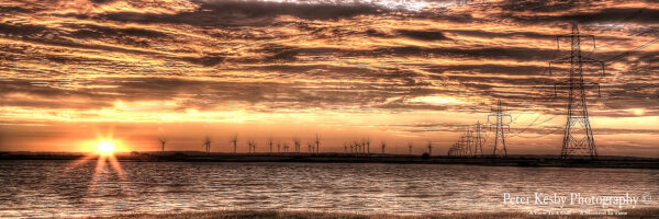 Pylons - Sunset - Panoramic