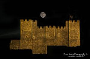 AA004 Dover Castle Night Moon