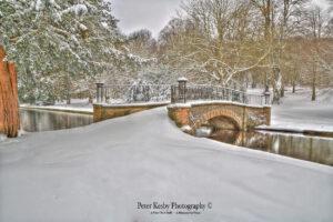 AC010 Kearsney Abbey Bridge Snow
