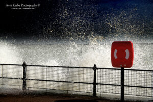AF009 rough sea buoy seafront