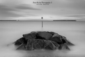 AF016 seafront large rock mono long exposure
