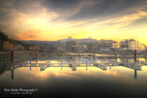 AF023 wellington dock sunrise yellow