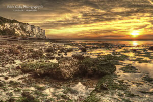 AG007 st margs sunrise rock in forground