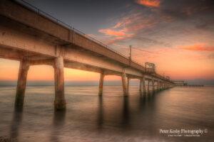 AK004 deal pier sunset