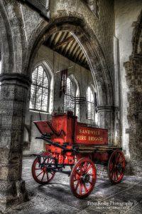 AM002 fire cart inside church portrait