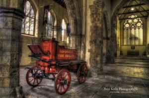 AM007 fire cart in st peters church sandwich landscape