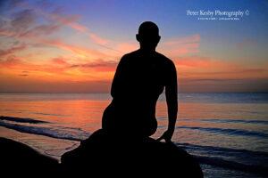 AN025 sunrise silhoette memaid
