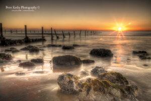 AO013 rocks showing sunrise orange