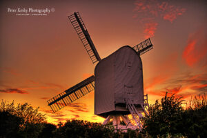 AP007 chillenden windmill sunset 1