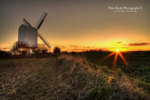 AP008 chillenden windmill sunset 2