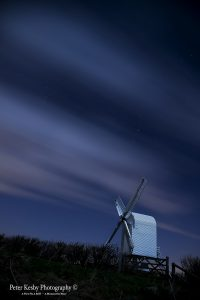 AP011 chillenden windmill at night