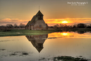 AV001 fiarfield sunrise flood reflection