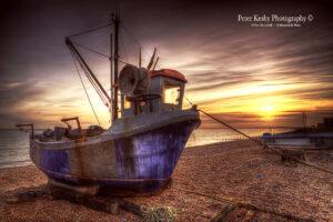 AY008 fish boat sunset hythe