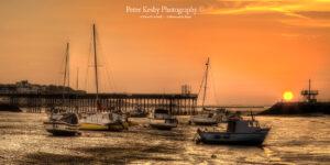 AZ004 herne low tide pano sunset