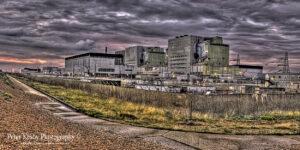 BN018 dungeness power station panoramic sunset